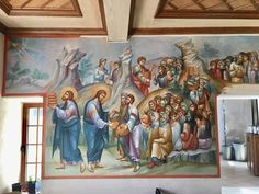 Church Interior, Byzantine Icons, Orthodox Icons, Projects To Try, Photo Wall, Scene, Wall Photos, Painting, Margarita