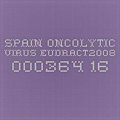 SPAIN Oncolytic Virus EudraCT2008-000364-16