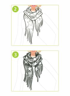 HOW TO DRAW: A Funky Scarf | Style Me Up