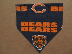 Chicago Bears Bandana by SCCDogApparel on Etsy, $6.00
