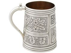 Sterling Silver Christening Mug - Antique Victorian  SKU: A3026 Price GBP £995.00  http://www.acsilver.co.uk/shop/pc/Sterling-Silver-Christening-Mug-Antique-Victorian-65p3730.htm#.VjoISis8rfc