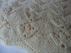 Hand Knit Baby Blanket in Butter Yellow by ViviansVintage on Etsy
