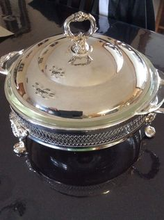 Epz Silverplate Lidded Footed Serving Dish From Italy $24.99