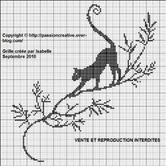 Bonjour Comme vous êtes nombreuses à vouloir des grilles de chat, j'ai décidé d'en faire toute une serie. Voici donc le chat sur une branche Pour l'imprimer, cliquez sur l'image. Je vous remercie de me faire parvenir une photo de votre ouvrage réalisé...
