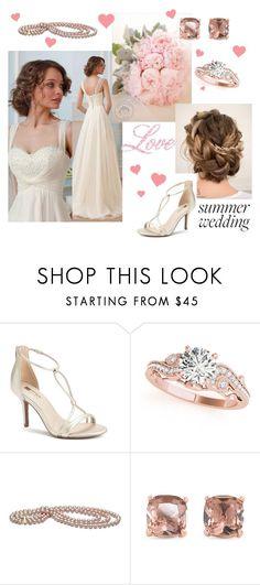 """Bridal #2"" by abigail-fredricks ❤ liked on Polyvore featuring Jennifer Lopez, Allurez, Carolee, Summer, beautiful, summerwedding, contestentry and bridalwear"