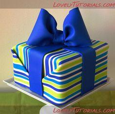 Horizontal stripes on a cake - How to