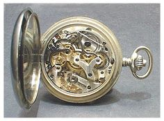 "Scarce Swedish Army ""Minerva"" Chronograph Pocket Watch. 1930's (Movement)"
