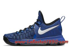 b56dd886212 Nike KD 9 On Court 843392-410 Chaussures Nike Prix Pas Cher Pour Homme Bleu