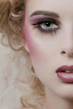 I love the porcelain and rouge contrast for doll makeup