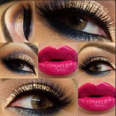 Unsure about the lipstick but the eyes are beautiful!