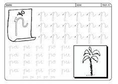 Grafismos de las letras - Secretos Marlove Pre K Activities, Calligraphy, Writing, Reading, Montessori, David, Literacy Activities, Alphabet, Texts