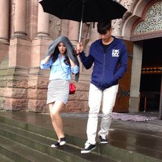 he only holds the umbrella just for you <3 #yadech 3/7/13