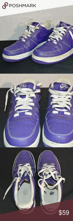Nike AF1 Purple Court Men's Size 11 488298-500 Is in very good condition with some wear from normal use. The soles are in very good condition. Nike Shoes Sneakers