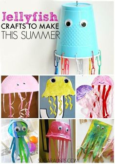 Cute jellyfish crafts for kids
