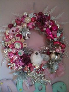 Turquoise and Pink Wreath! | Wreaths | Pinterest | Turquoise, Pink ...