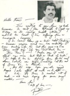 Letter from Freddie to Richard (his godson) Mary Austin's