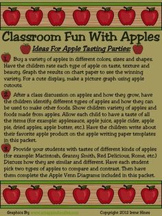 BEST SELLER...TOP 100 ON TpT! Johnny Appleseed & Apple Unit: 65 pages of ideas, information, activities, projects & printables that correlate with Apples and Johnny Appleseed..... ~Class Discussion Ideas ~Apple KWL Chart lesson ~Apple Day & National Apple Month ~Apple Themed Book & Apple Sayings Lists ~Apple Tasting Party Ideas ~Apple Writing Ideas, Prompts, Story Starters & Activities ~Science lessons on seasons ~Adjective lesson, anchor chart & cooperative group activity $