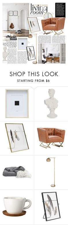 """Art'ful Decoration"" by modernbovary ❤ liked on Polyvore featuring interior, interiors, interior design, home, home decor, interior decorating, Nordal, Armen Living, Threshold and Höganäs Ceramic"