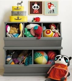 Our most popular storage item comes in a variety of rich colors like grey, navy and pink. Vegetable bins were the inspiration for our practical toy, book and game storage units.