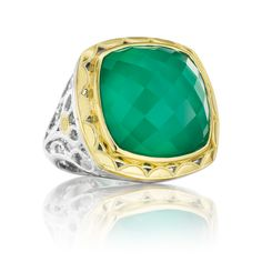 TACORI Green Onyx and yellow gold ring from Windsor Jewelers