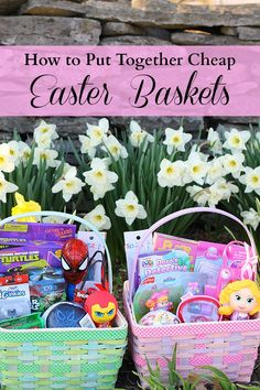 How to put together cheap Easter baskets. @Jessica Turner shares how she shops @Target clearance to save 70-90% on the items in her kids Easter baskets. Great read. #easter #easterbasket #gifts #target