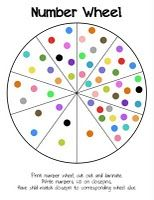Free Preschool Printable: Number Wheel. A fun game to teach your child counting and numbers.