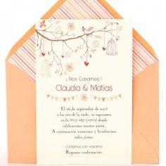 Invitación de boda Love Tree