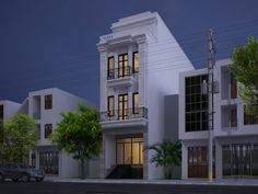 classic house with 4 storey