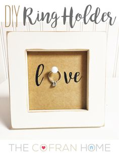 """DIY Ring Holder"" - love this for an engagement gift or pre wedding gift!  www.thecofranhome.com"