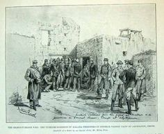 Ottoman troops captured at Malaxa blockhouse.