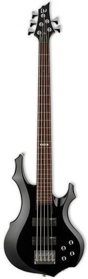 LTD F-105 5 String Bass Guitar | Black Finish