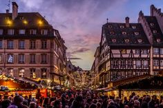 Crowds at Strasbourg Christmas Market
