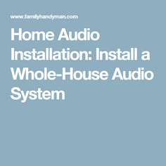 12 best audio systems images on pinterest audio system theater rh pinterest com Home Ethernet Wiring Diagram Home Audio Systems Installation Diagrams