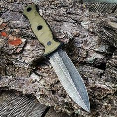 Ken Vehikite (@black_roc_knives)  One of the coolest looking knives I have seen.  http://amzn.to/2w69O3Q