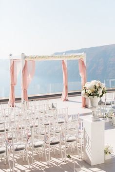 Greek ceremony with gorgeous draping. The Wedding Consultant + Wedding Wish. Photography: Anna Roussos  - annaroussos.com