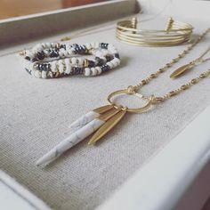 J'adore la nouvelle collection  totalement fan !  Collier double Quill  Bracelet or Quinn et trio de bracelets Nomade - dispo en avant première jusqu'au 8 juin sur mon site eshop: http://ift.tt/1P5gAbZ  http://ift.tt/1lmkJx3  #stelladot#stelladotfr #stellaanddot #stelladotstyle#bijou #accessoire #bracelets#instagood #instasmile #instamode#colliers #bijoux#accessoires#mode