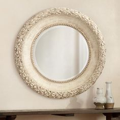 "English Laurel 44 3/4"" Wide Round Wall Mirror"