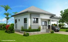 A Bungalow style is one of the most common houses today. Bungalow house offers a cozy, homey fe. Modern Bungalow House Design, Simple House Design, Bungalow Designs, Modern Design, Modern Courtyard, Courtyard House Plans, Philippines House Design, Philippine Houses, Beach Cottages