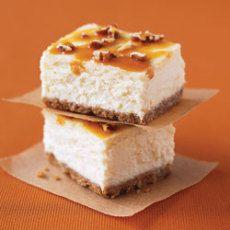 Double Caramel-Pecan Cheesecake Bars