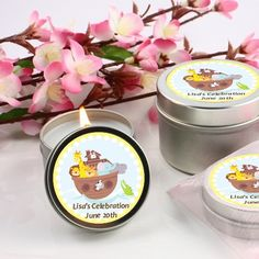 Noah's Ark - Baby Shower Candle Favors