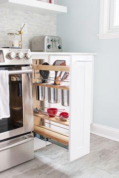 alquimia deco: Soluciones de almacenaje para una cocina pequeña