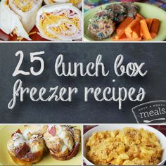 Both kids and adults will enjoy these 25 lunch box freezer recipes. Make back to school a breeze with these fun and easy to pack meals. Make Ahead Freezer Meals, Make Ahead Lunches, Freezer Cooking, Easy Meals, Freezer Recipes, Freezable Recipes, Healthy Lunches, School Lunches, Baked Pumpkin Oatmeal