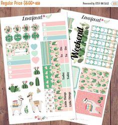 Alpaca planner stickers kit for erin condren,happy planner stickers, mini kit sticker, MK006 by Lavenforest on Etsy https://www.etsy.com/listing/387100452/alpaca-planner-stickers-kit-for-erin
