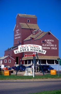 Mile Zero of the Alaska Highway, Dawson Creek, BC, Canada