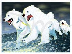 Samoyed team by SiberianArt on Etsy, $30.00