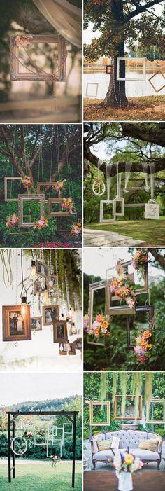 fantastic hanging wedding decoration ideas with photo frames