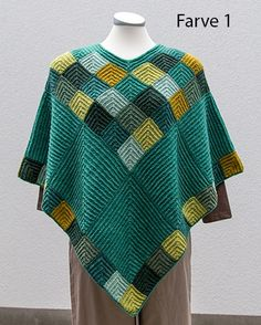 Image result for knitted poncho free pattern