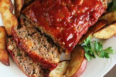 Absolutely delicious meatloaf and sauce! Those who claim they don't believe there can be such a thing as a great meatloaf will love this.