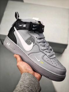 on sale 223c3 b4034 NIKE AIR FORCE 1 MID 07 LV8 SNEAKER AV3803-001   Kicks (Sneakers) in 2019    Pinterest   Nike shoes, Sneakers and Sneakers nike