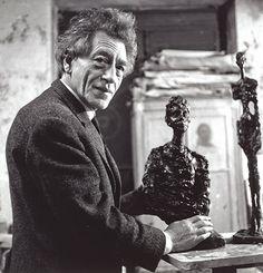 Alberto Giacometti photographed by G. Freund, 1966, Paris.